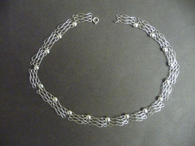 Halskette aus Silber Drahtglieder / Silber 900