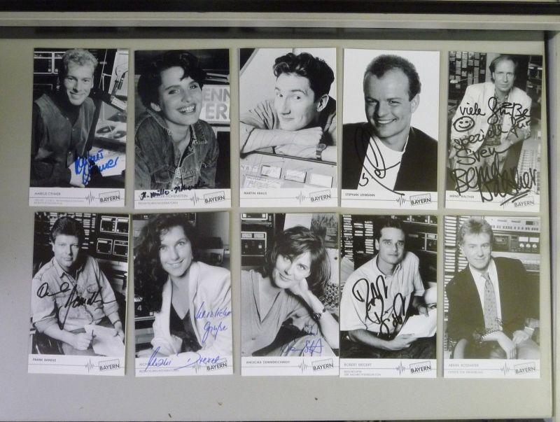 18 Autogrammkarten Radio Antenne Bayern Moderatoren Redakteure