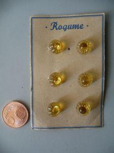 6 alte böhmische Glasknöpfe Knopf