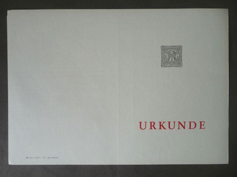Blanko-Urkunde Vordruck Kollektiv der soozialistischen Arbeit DDR