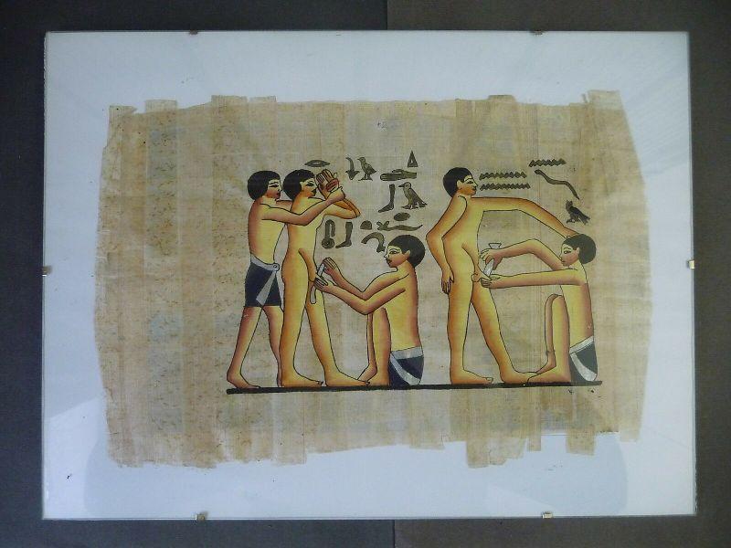 Papyrus Alt-Ägypten Darstellung Beschneidung