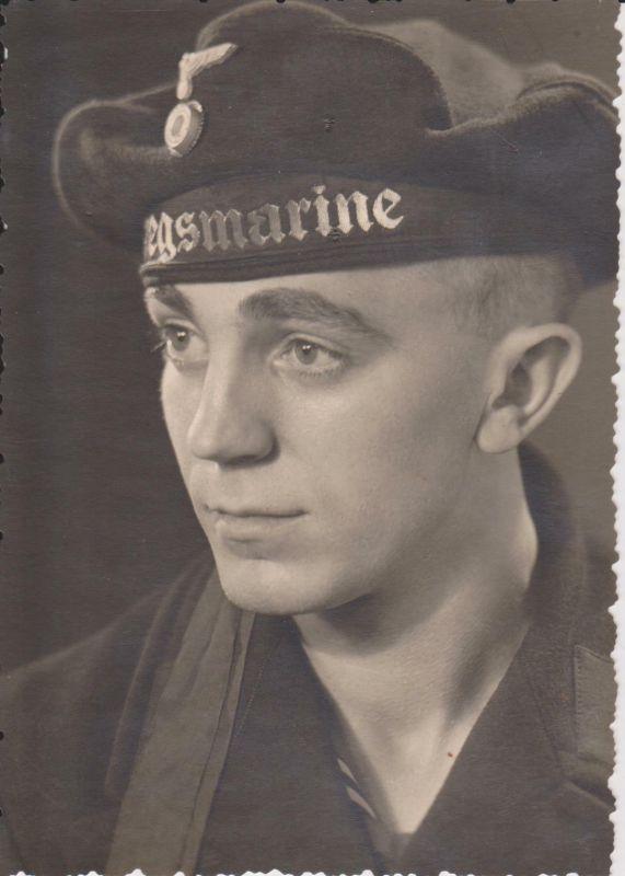 Orig Foto Porträt Matrose Kriegsmarine WKII (1)