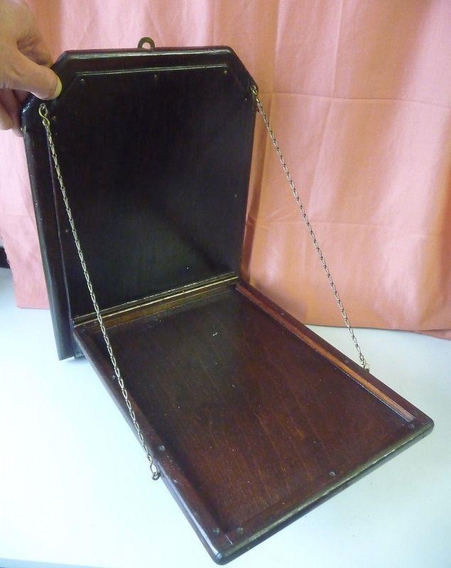 Altes ausklappbares Wandbrett Klappbrett für Telefon?