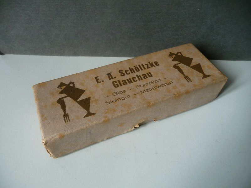 Orig. Schachtel Karton Haushaltwarenhandlung E.A. Schöltzke Glauchau