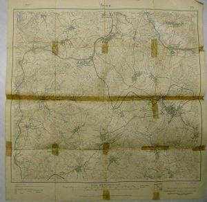 Landkarte Sachsen Landesaufnahme 134 Treuen Pöhl 1921