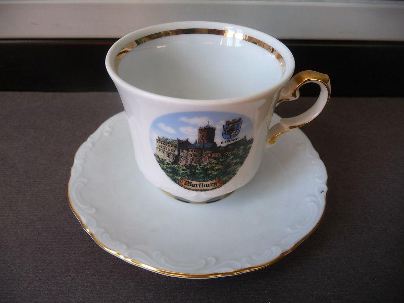 Kleine Tasse Mokkatasse Andenkentasse Souvenir Wartburg Eisenach / Mitterteich