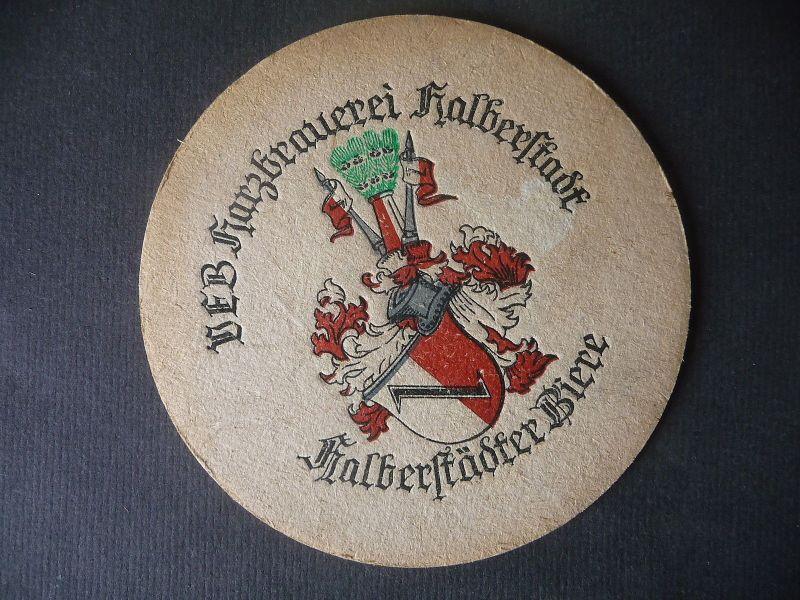 Bierdeckel Untersetzer Bierfilz VEB Harzbrauerei Halberstadt