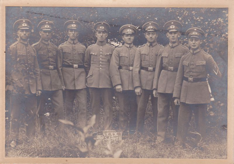 Orig. Foto Soldaten Gruppe Stube Infanterie-Regiment ca. 1914