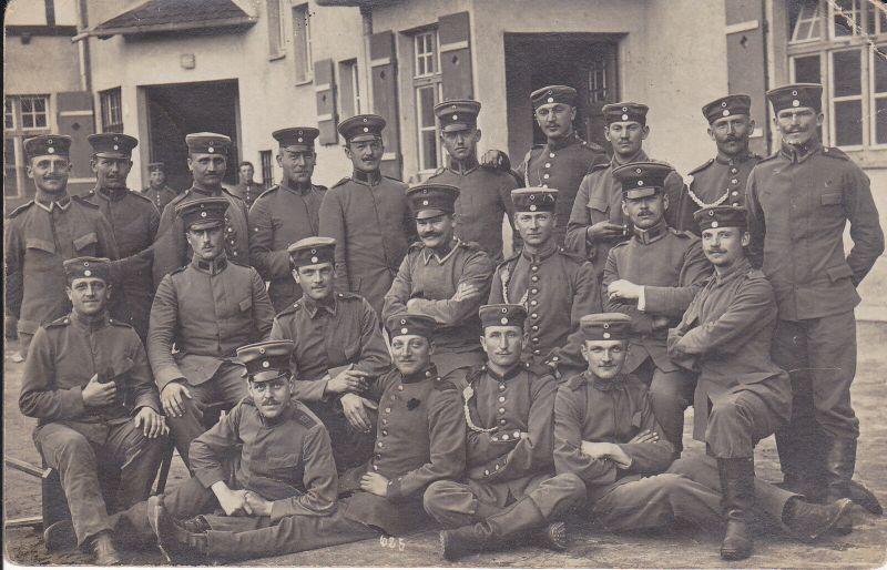Orig. Foto Gruppenbild Soldaten Grafenwöhr 1912