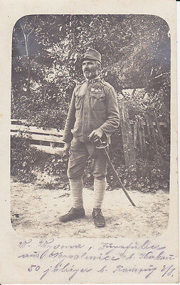 Foto Soldat Zugsführer Auszeichnungen Myszlowice WK I