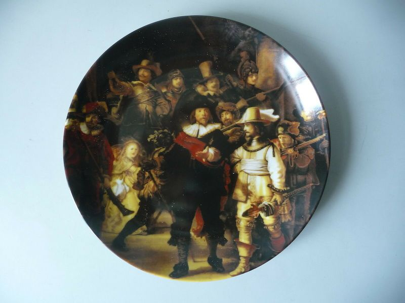 Zierteller Wandteller Rembrandt Nachtwache / AK Kaiser Porzellan