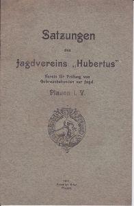Heft Satzungen Jagdverein Hubertus Jagdhund Plauen