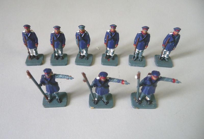 9 Figuren Soldaten Miniaturgröße für Modellbau Modellbahn Diorama