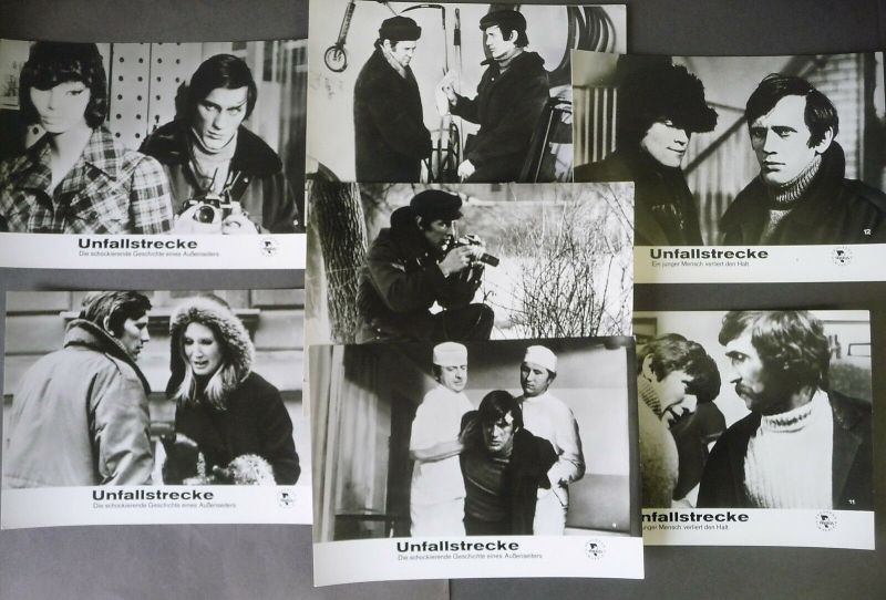 7 x Filmfoto Aushangfoto Unfallstrecke / Poślizg Jan Englert / Progress 1972