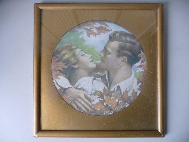 Druckgraphik Kunstdruck Charles Allan Gilbert Liebespaar Jugendstil