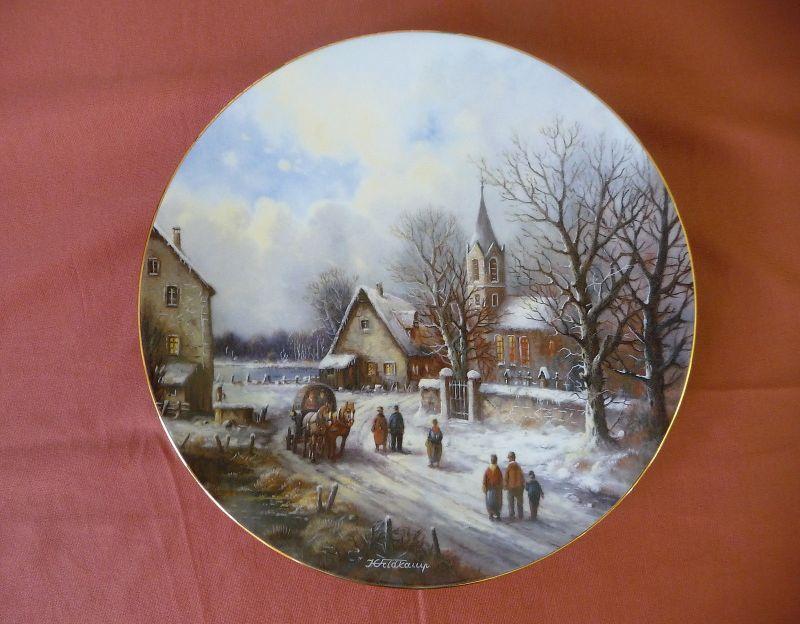 Weihnachsteller Weihnachtliche Landschaft Dorf am See / Feldkamp Tirschenreuth