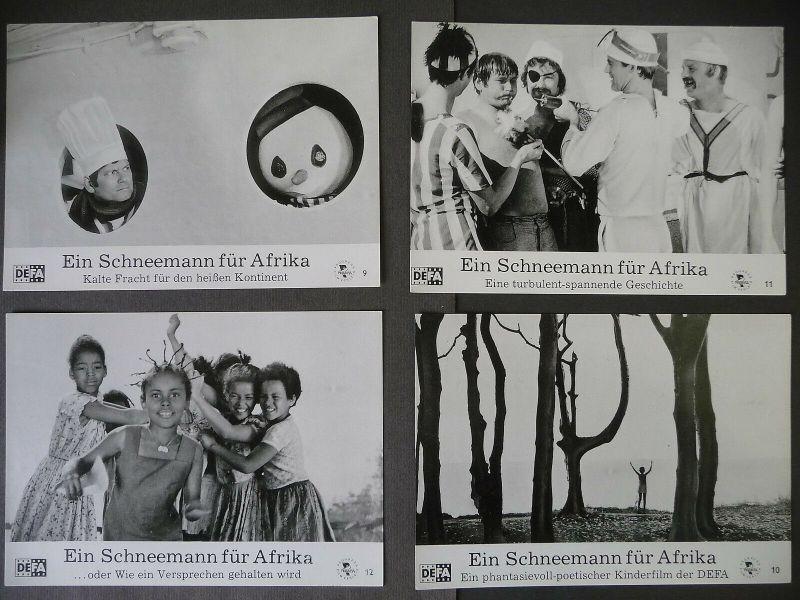 4 x Filmfoto Aushangfoto Ein Schneemann für Afrika / DEFA Progress 1977
