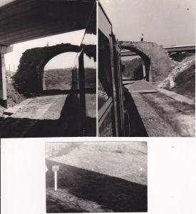 3 Orig. Fotos vom Zug Strecke bei Gutenfürst Brücke Eisenbahn Vogtland ca. 1970