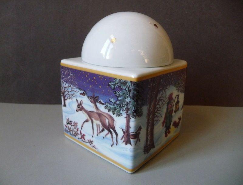 Weihnachtsdose Deckeldose Kuppel / Arzberg Porzellan