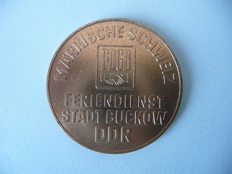 Medaille FDGB Feriendienst Buckow