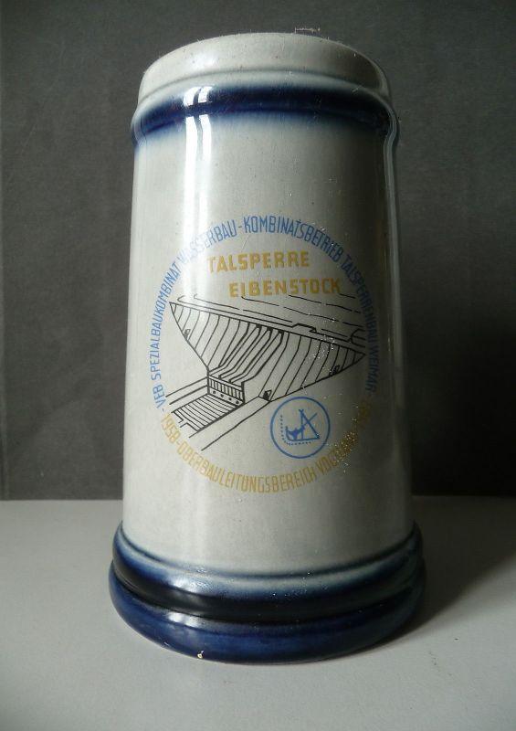 Bierkrug DDR / Talsperre Eibenstock /VEB Spezialbaukombinat Talsperrenbau 1983