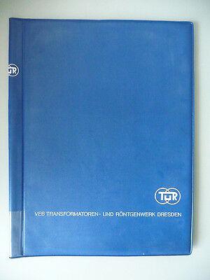Aktenmappe DDR Transformatoren- u. Röntgenwerk Dresden