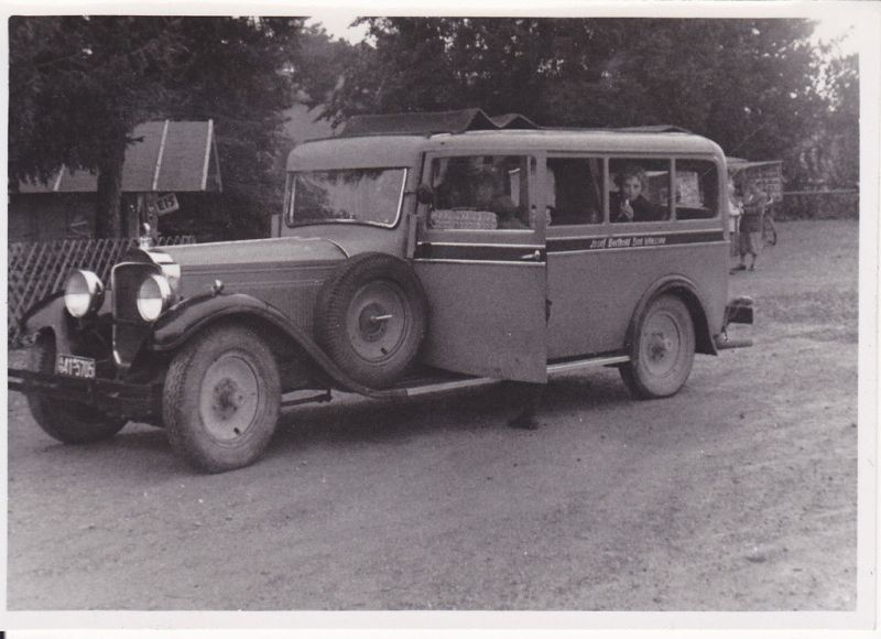 Orig. Foto Kleinbus Bad Wiessee ca. 1950