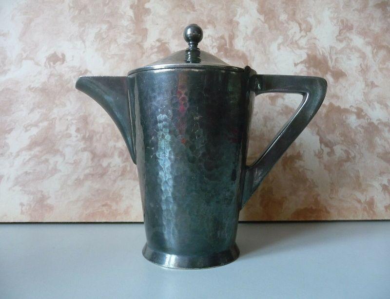 Kaffeekanne aus Metall Art Déco / Hutschenreuther Initialen KL 25cl