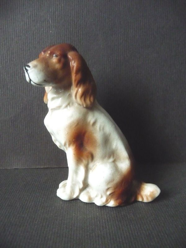 Porzellanfigur Tierfigur Hund 9 cm