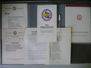 Mappe mit Unterlagen SED 16. Kreisdelegiertenkonferenz Glauchau 1980