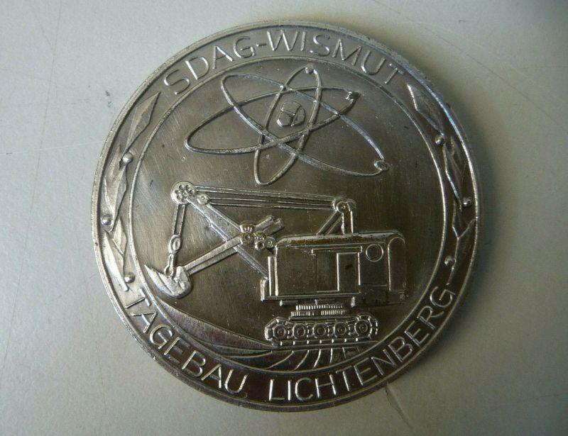 Medaille SDAG Wismut / Tagebau Lichtenberg  DDR