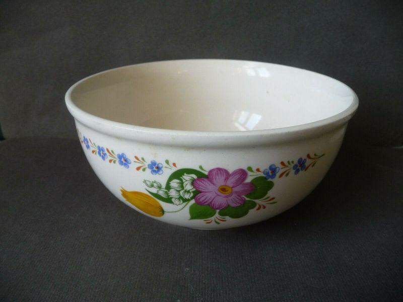 Kleine Schüssel Schale mit Blumendekor / DDR Keramik