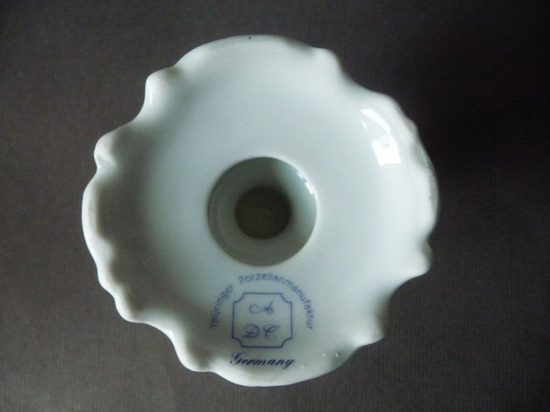 2 x Kerzenhalter Kerzenständer Blumendekor / Thüringer Porzellanmanufaktur ADC 2