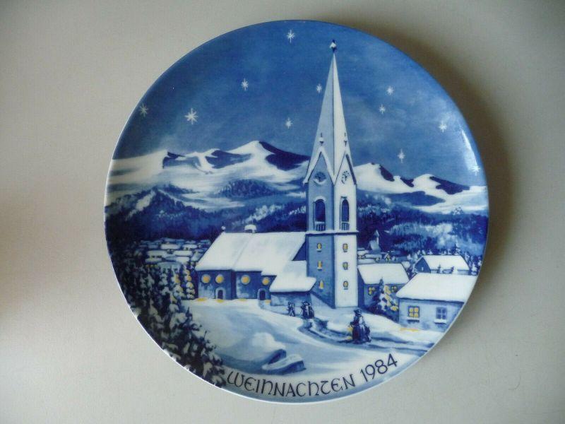 Zierteller Weihnachtsteller Kapelle Tuxertal  / Bavaria Porzellan