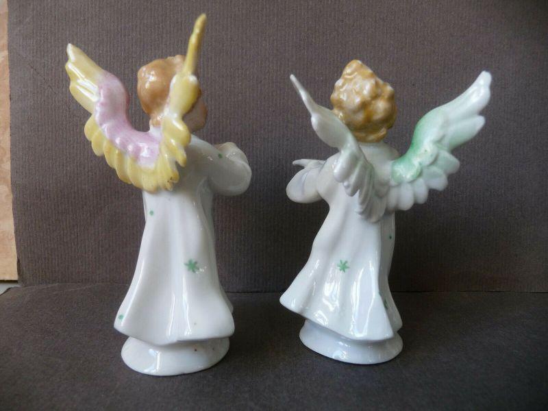 6 kleine Porzellanfiguren musizierende Engel Kapelle 5