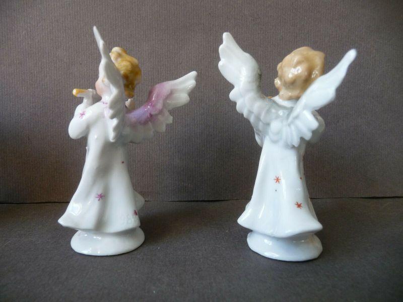 6 kleine Porzellanfiguren musizierende Engel Kapelle 6