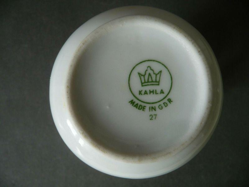 Milchkännchen Sahnegießer Schwarze Rose Goldrand / Kahla Porzellan 2