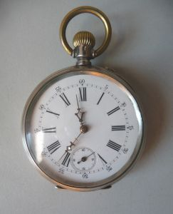 Taschenuhr G.T. Silber 800 um 1900