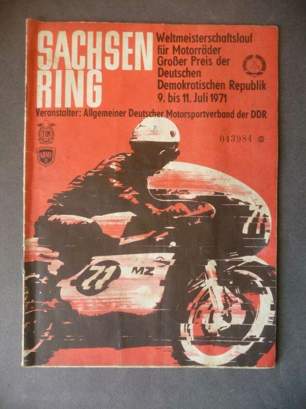 Programmheft Sachsenring Großer Preis DDR 1971
