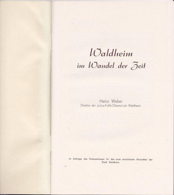 Broschüre Waldheim Sachsen im Wandel der Zeit 1964