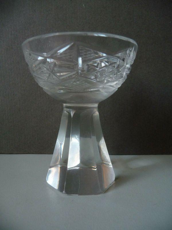 Likörglas Likörschale Kristallglas Schliffdekor 8 cm