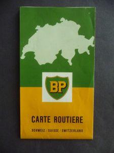BP Carte Routiere Straßenkarte Schweiz ca. 1960