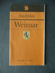 Stadtplan Weimar DDR 1990