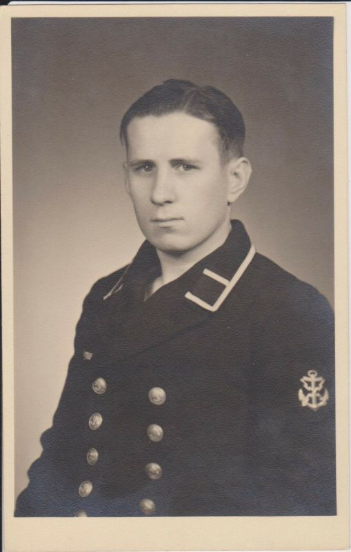 Orig Foto Porträt Matrose Fernschreibermaat Ärmelabzeichen Kriegsmarine