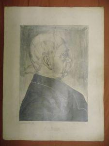 Orig. Handzeichnung Porträt Fürst Bismarck / Hans Wensauer 1915