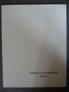 Prächtige Urkunde Dienstjubiläum, IHK Plauen, Signal-Inst-Fabrik Markneukirchen