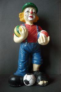 Tolle Figur Clown mit drei Bällen Riesenschuhe Deko-Idee Kinderzimmer