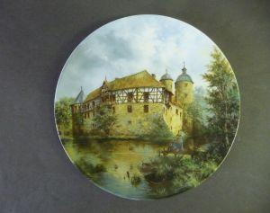 Sammelteller Wasserschlösser Nr. 6: Irmelshausen / Königl. Tettau Porzellan