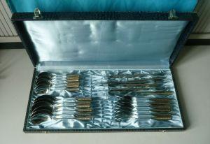 Besteckkasten Löffel Messer Gabel 24 Teile Edelstahl