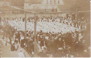 Orig. Foto Turner Vorführung Turnfest Sachsen ca. 1910
